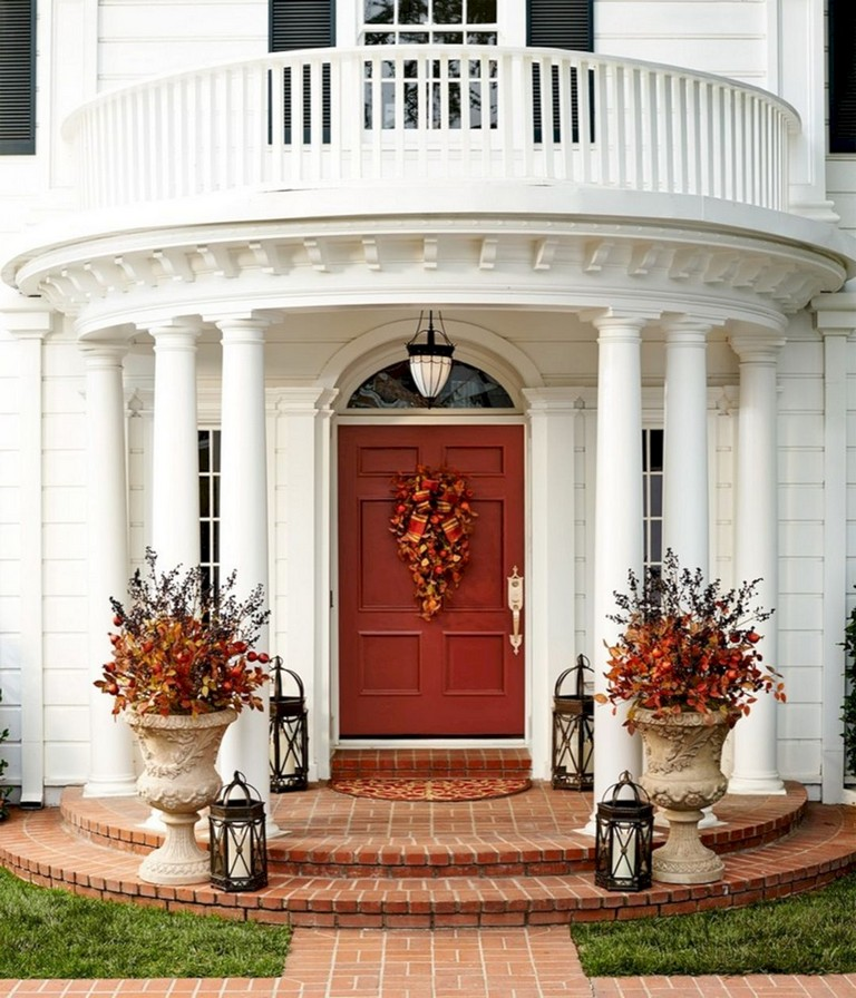 Fall Front Door: 30+ WonderfulAnd Most Beautiful Fall Front Door Decorating