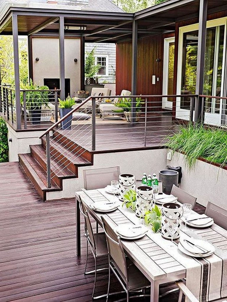 45+ Amazing Backyard Patio Deck Design Ideas - Page 48 of 48