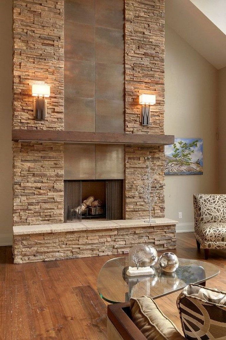 Luxury Living Rooms With Stone Fireplaces